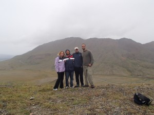 with Peter and Chris at the top of the mountain we climbed